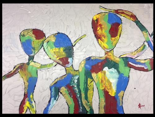 Angela Kirchmayer, Amazement, Menschen, Skurril, Abstrakte Kunst