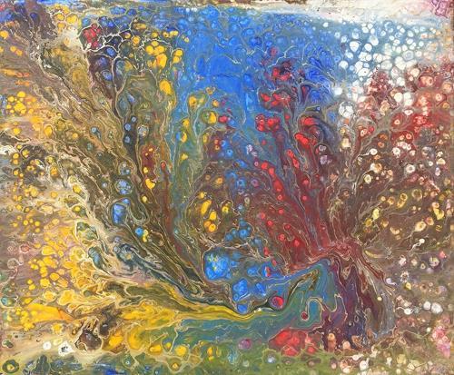 Sabrina Seck, flower field, Abstraktes, Gegenwartskunst, Expressionismus