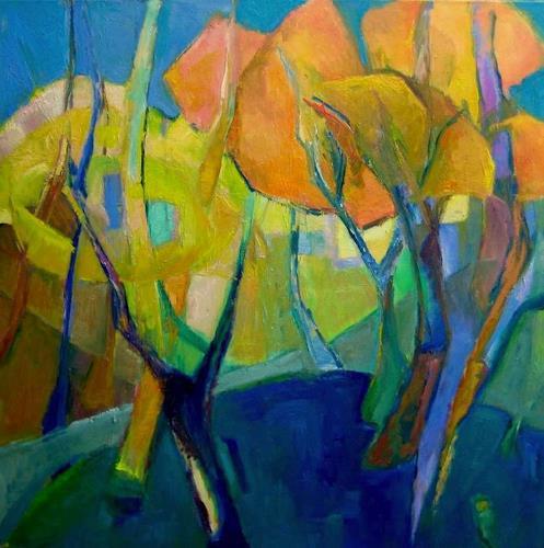 Monika Dold, Sommer, Landschaft, Landschaft: Sommer, Abstrakte Kunst, Expressionismus