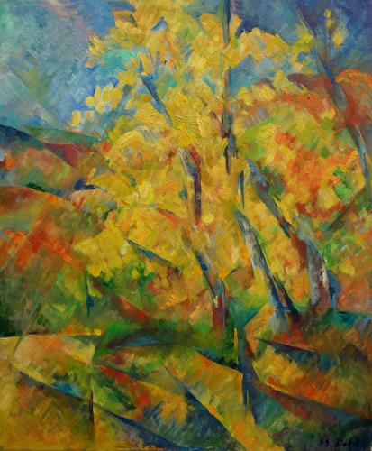 Monika Dold, Goldener Herbst, Abstr. I, Landschaft: Herbst, Natur: Erde, Abstrakte Kunst
