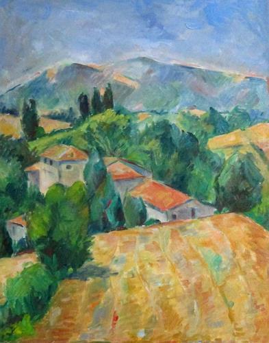 Monika Dold, Gehöft in Pieve Trebbio, Landschaft, Architektur, Impressionismus
