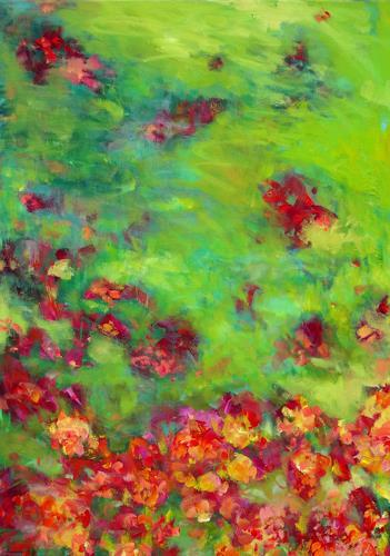 Monika Dold, Blütenduft, Pflanzen: Blumen, Abstraktes, Colour Field Painting, Expressionismus