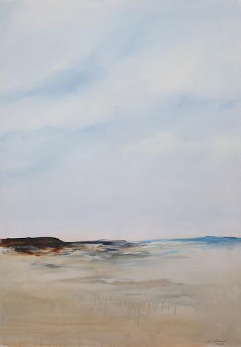 Iris Schiebener, Lands End 3, Landschaft: See/Meer, Landschaft: Hügel, Gegenwartskunst, Expressionismus