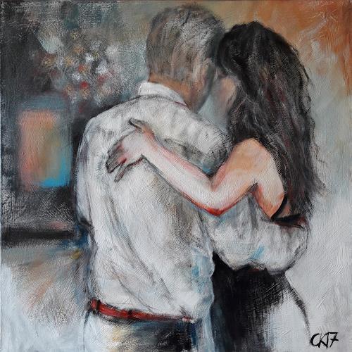 Caroline Roling, milonga, Menschen: Paare, Gegenwartskunst, Expressionismus