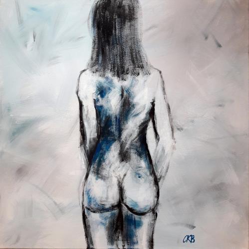 Caroline Roling, rücken auf weiß, Akt/Erotik: Akt Frau, Gegenwartskunst