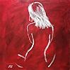 Caroline Roling, rücken auf rot