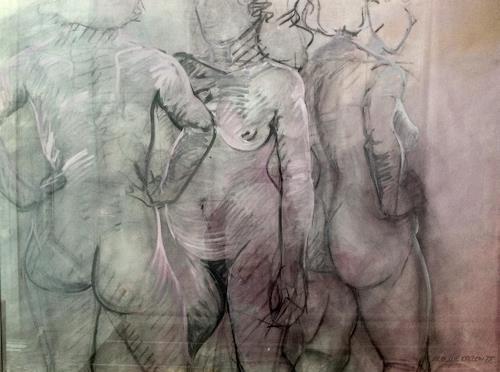 Caroline Roling, Freundinnen 2, Menschen: Gruppe, Gegenwartskunst, Abstrakter Expressionismus