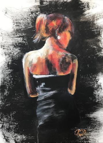 Caroline Roling, MAGIC WOMAN 4, Menschen: Frau, Gegenwartskunst, Abstrakter Expressionismus