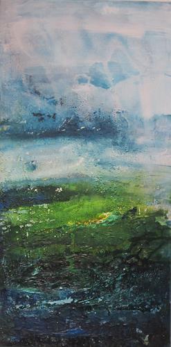 ElisabethFISCHER, o. T., Landschaft, Landschaft: Frühling, Abstrakte Kunst, Abstrakter Expressionismus