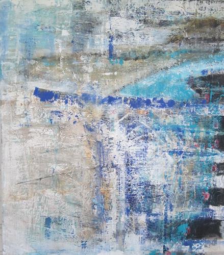 ElisabethFISCHER, Sommer 2016, Landschaft: See/Meer, Abstrakte Kunst