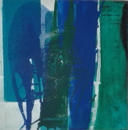 ElisabethFISCHER, O.T., Landschaft: See/Meer, Abstrakte Kunst