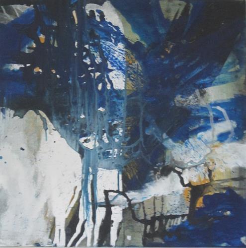 ElisabethFISCHER, 0.T., Landschaft: Sommer, Abstrakte Kunst, Abstrakter Expressionismus