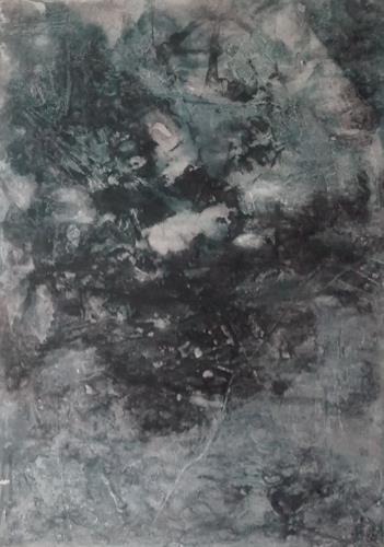 ElisabethFISCHER, O.T., Abstraktes, Abstrakte Kunst, Abstrakter Expressionismus