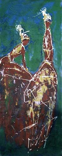 Ute Anna Thiess, On Tour, Menschen, Abstraktes, Abstrakte Kunst, Abstrakter Expressionismus