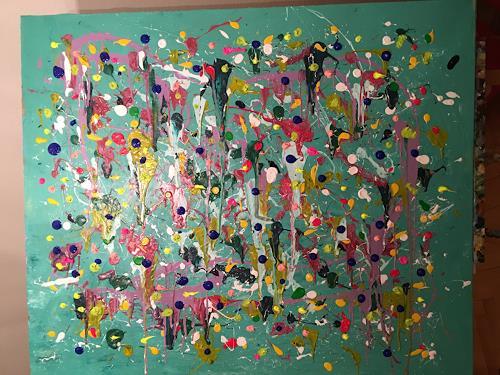 Vicky Fuchs, Colorful, Abstraktes, Abstraktes, Abstrakte Kunst