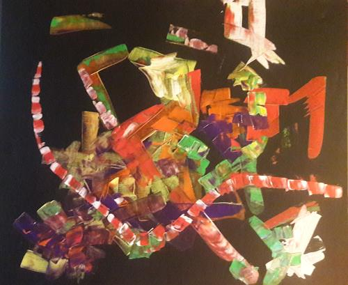 andersARTig, DasrotweisseAbsperrBand, Abstraktes, Fantasie, Abstrakte Kunst, Abstrakter Expressionismus