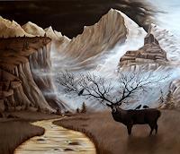 Claudia-Kohlmayer-Landschaft-Berge-Tiere-Land-Moderne-Abstrakte-Kunst
