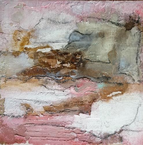 Andrea Titscherlein, im rosa Licht, Abstraktes, Pflanzen: Blumen, Informel, Expressionismus