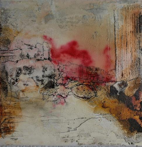 Andrea Titscherlein, entlang des Weges, Abstraktes, Diverse Landschaften, Informel, Expressionismus