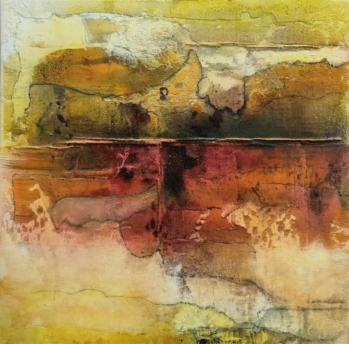 Andrea Titscherlein, getrennt und doch vereint, Abstraktes, Diverse Landschaften, Informel