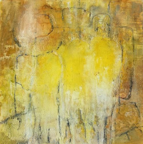 Andrea Titscherlein, beieinander, Abstraktes, Menschen: Gruppe, Abstrakte Kunst