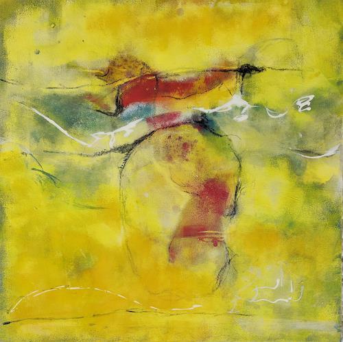 Andrea Titscherlein, Flieg, Vogel, flieg ..., Tiere: Luft, Abstraktes, Abstrakte Kunst