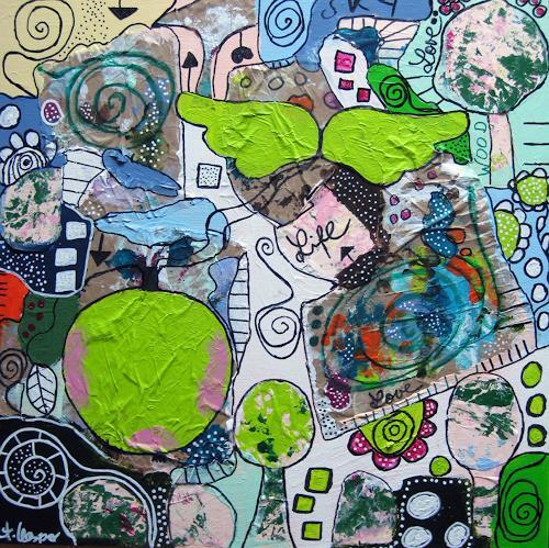 Andrea Kasper, ApfelFlug, Skurril, Gefühle, New Image Painting