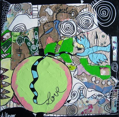 Andrea Kasper, APFELSPECIAL, Pflanzen, Skurril, Postsurrealismus, Abstrakter Expressionismus