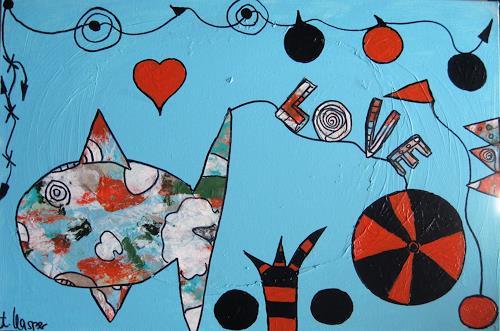 Andrea Kasper, Nach dem Fisch kommt der Wasserball, Skurril, Fantasie, New Image Painting