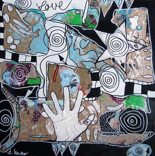 Andrea Kasper, Handspiel, Abstraktes, Gefühle, New Image Painting, Expressionismus