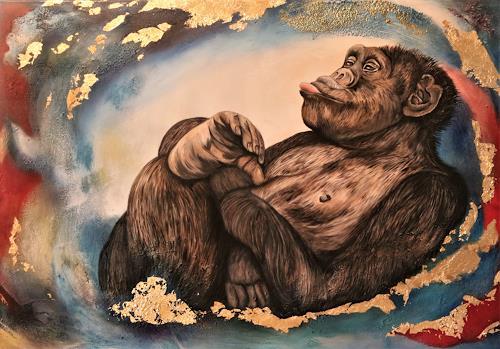 Beatrice Gugliotta, Egal, Tiere, Diverse Gefühle, Moderne, Abstrakter Expressionismus