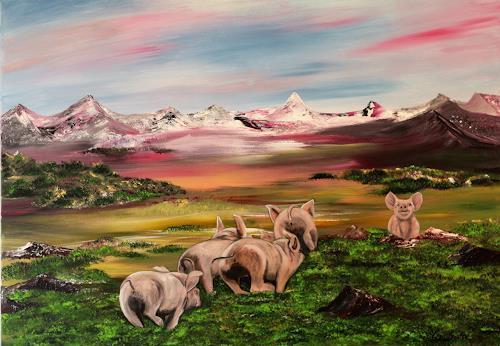 Beatrice Gugliotta, Glück, Landschaft, Tiere, Land-Art