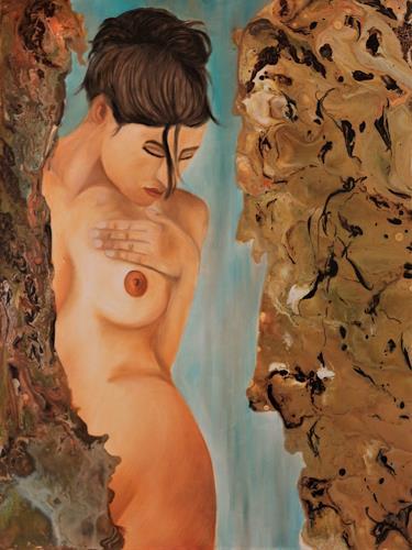 Beatrice Gugliotta, Ich hatte mal wieder Lust etwas anderes zu malen, Menschen: Frau, Akt/Erotik: Akt Frau, Moderne