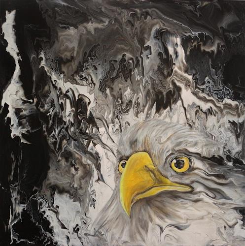 Beatrice Gugliotta, Adlerblick, Tiere: Luft, Natur, Neue Figurative Malerei