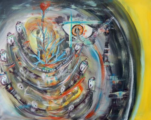 BRIGITTE, FLUCHT, Abstraktes, Menschen, Abstrakte Kunst