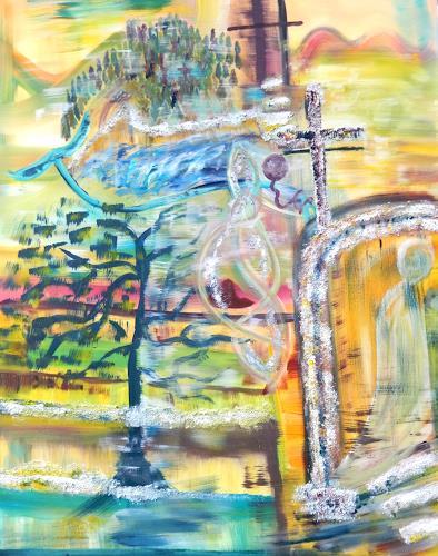 BRIGITTE, LIEBE - GLAUBE - HOFFNUNG, Landschaft, Abstraktes, Abstrakte Kunst