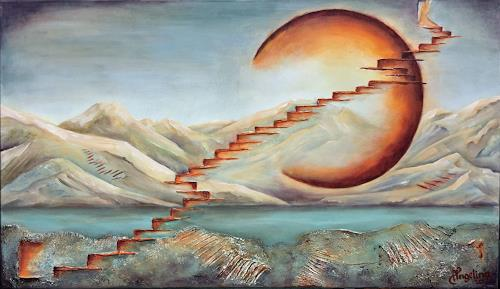 Angelina Casadei, Stairs to heaven, Fantasie, Symbol, Surrealismus