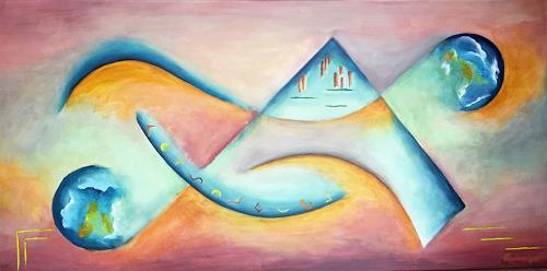 Angelina Casadei, Univers in mouvement 2, Fantasie, Symbol, Abstrakte Kunst