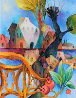 Gennady Karabinskiy, Komposition mit einem goldenen Zaun.