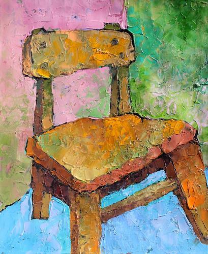 Gennady Karabinskiy, Karton Nr. 22, Stilleben, expressiver Realismus, Expressionismus