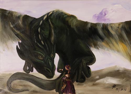 Mareike Kress, Drachentänzerin, Menschen: Frau, Abstrakte Kunst, Abstrakter Expressionismus
