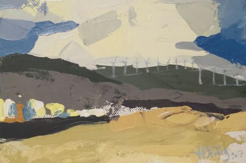 Hedwig Oeldig, Landschaft auf Fuerteventura, Landschaft: Berge, Landschaft: Sommer, Gegenwartskunst