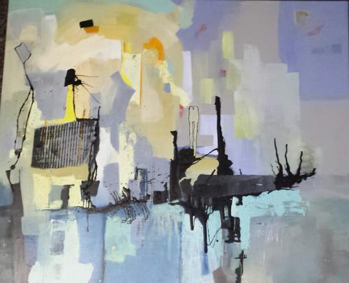 Hedwig Oeldig, Frühling kommt!, Abstraktes, Abstrakte Kunst, Abstrakter Expressionismus