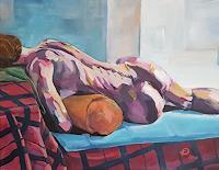 Peter-Oberthaler-Menschen-Frau-Akt-Erotik-Akt-Frau-Moderne-expressiver-Realismus