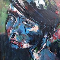 Peter-Oberthaler-Menschen-Frau-Menschen-Portraet-Moderne-expressiver-Realismus