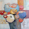 Angela Fusenig, Bouquet 4, Pflanzen: Blumen, Diverse Pflanzen, Abstrakter Expressionismus
