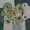 Angela Fusenig, Komposition mit Grün2