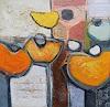 Angela Fusenig, Komposition mit Gelb 2, Pflanzen: Blumen, Diverse Pflanzen, Gegenwartskunst