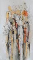 Angela-Fusenig-1-Menschen-Frau-Menschen-Gruppe-Gegenwartskunst-Gegenwartskunst