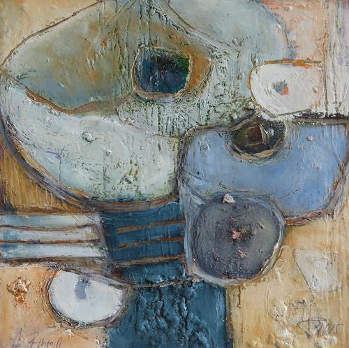 Angela Fusenig, Kleines Blau, Abstraktes, Diverse Pflanzen, Gegenwartskunst, Expressionismus